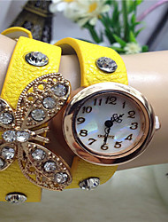 cheap -Women's Fashion Watch Quartz Leather Band Black White Blue Red Brown Green Pink Purple Yellow Beige