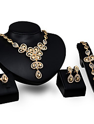 cheap -Women's Pendant Necklace Flower Personalized Fashion Gold Plated Earrings Jewelry Gold For Party Engagement