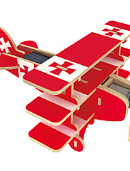 cheap -Solar Powered Toy 3D Puzzle Jigsaw Puzzle Plane / Aircraft Solar Powered DIY Wooden Classic Kid's Boys' Girls' Toy Gift