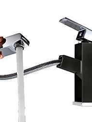 cheap -Art Deco/Retro Chic & Modern Elegant & Luxurious Centerset Ceramic Valve Single Handle One Hole Painting, Bathroom Sink Faucet