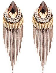 cheap -Women's Drop Earrings Drop Personalized Tassel Oversized Earrings Jewelry Coffee / Royal Blue For Wedding Party Formal