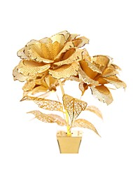 Недорогие -Металлические пазлы Розы Цветы Своими руками Сплав Универсальные Игрушки Подарок