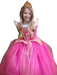 cheap -Princess Cosplay Costume Movie Cosplay Rose Dress Christmas Children's Day New Year Polyester