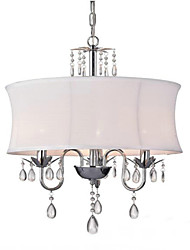 cheap -QINGMING® 3-Light 48 cm Mini Style / Designers Chandelier Metal Fabric Electroplated Retro / Country 110-120V / 220-240V