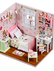 cheap -Model Building Kit DIY Famous buildings Furniture House Wooden Classic Kid's Girls' Toy Gift