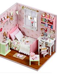 abordables -Kit de Maquette A Faire Soi-Même Bâtiment Célèbre Meuble Maison En bois Classique Enfant Fille Jouet Cadeau