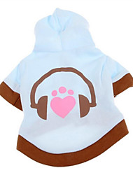 cheap -Dog Hoodie / Sweatshirt Dog Clothes Heart Cotton Costume For Pets Men's / Women's Casual / Daily