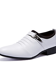 cheap -Men's Formal Shoes PU Fall / Winter British Oxfords Black / White / Party & Evening / Party & Evening / Dress Shoes / Comfort Shoes / EU40