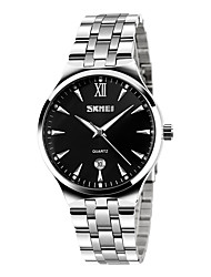 cheap -SKMEI Men's Wrist Watch Quartz Stainless Steel Silver 30 m Casual Watch Analog Charm Fashion Simple watch - Black Blue Rose Gold Two Years Battery Life / Maxell626+2025