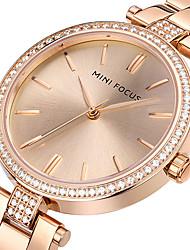 cheap -Women's Wrist Watch Diamond Watch Gold Watch Quartz Stainless Steel Silver / Gold / Rose Gold 30 m Creative Casual Watch Cool Analog Ladies Charm Luxury Casual Fashion - Gold Silver Rose Gold Two