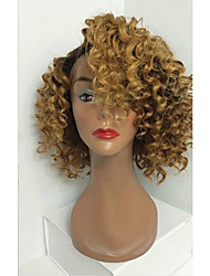 cheap -Human Hair Glueless Full Lace Full Lace Wig style Brazilian Hair Curly Wig 130% Density with Baby Hair Ombre Hair Natural Hairline African American Wig 100% Hand Tied Women's Short Medium Length Long
