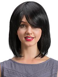 abordables -Cheveux humains Perruque Classique Ondulation Naturelle Classique Ondulation Naturelle Fabriqué à la machine Noir Naturel Quotidien