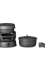 cheap -Pan Cookware Set Sets for 2 - 3 person Stainless Steel Copper Hard Alumina Outdoor Camping / Hiking Picnic BBQ