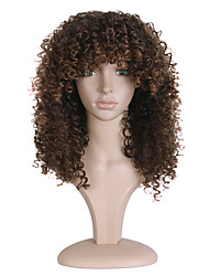 cheap -Synthetic Wig Curly Curly Wig Long Brown Synthetic Hair Women's African American Wig Brown