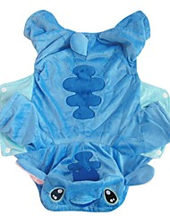 cheap -Dog Costume Puppy Clothes Cartoon Cosplay Winter Dog Clothes Puppy Clothes Dog Outfits Blue Costume for Girl and Boy Dog Plush Fabric XS S M L XL