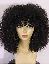 cheap -Human Hair Glueless Full Lace Full Lace Wig Layered Haircut Beyonce style Brazilian Hair Body Wave Kinky Curly Ombre Wig 130% Density with Baby Hair Ombre Hair Natural Hairline African American Wig