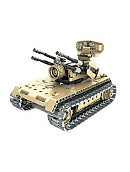 cheap -Remote Control RC Building Block Kit Building Blocks Construction Set Toys Educational Toy Tank Fighter Aircraft Remote Control / RC Classic DIY Boys' Girls' Toy Gift