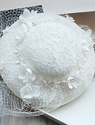 cheap -Tulle / Imitation Pearl / Lace Fascinators / Hats with 1 Wedding / Special Occasion / Birthday Headpiece