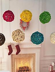 cheap -20Pcs/Pack 3Cm Birthday Party Decor Wedding Decoration Rattan Ball  Decor Home Ornament Home Decoration