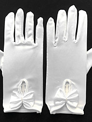 cheap -Spandex Wrist Length Glove Bridal Gloves / Party / Evening Gloves With Bowknot