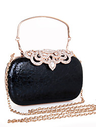 cheap -Women's Bags leatherette Evening Bag Rhinestone MiniSpot for Wedding / Party / Event / Party Black / Gold / Silver