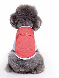 cheap -Dog Vest Dog Clothes Stars Red Pink Cotton Costume For Spring &  Fall Summer Men's Women's Casual / Daily