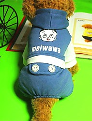 cheap -Dog Hoodie Dog Clothes Casual/Daily Letter & Number Blue Yellow
