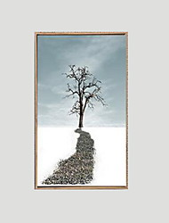 cheap -Landscape Framed Oil Painting Wall Art,PS Material With Frame For Home Decoration Frame Art Living Room Dining Room 1 Piece