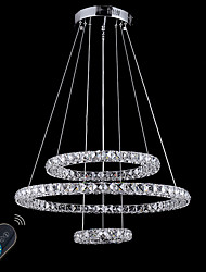 cheap -Circular Chandelier Ambient Light Electroplated Metal Crystal, Adjustable, Dimmable 110-120V / 220-240V Dimmable With Remote Control LED Light Source Included / LED Integrated