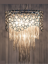 cheap -5-Light Pendant Light Ambient Light Silver Metal Crystal, Mini Style, Bulb Included 110-120V / 220-240V Warm White / Cold White Bulb Not Included