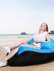 cheap -Air Sofa Inflatable Sofa Sleep lounger Air Bed Outdoor Camping Waterproof Portable Fast Inflatable Oxford Fishing Beach Camping for 1 person Spring Summer Fall Black / Orange Camouflage Blue / Black