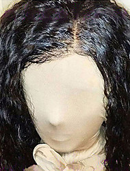cheap -Remy Human Hair Glueless Lace Front Lace Front Wig style Brazilian Hair Curly Wavy Wig 130% Density Faux Locs Wig Natural Hairline African American Wig 100% Hand Tied Women's Short Medium Length Long