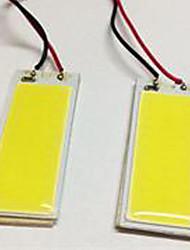 Недорогие -2pcs BA9S / T10 Автомобиль Лампы 5W COB 490lm Светодиодные лампы Внутреннее освещение