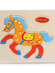 cheap -Horse Jigsaw Puzzle Wooden Anime Kid's Toy Gift