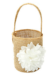 "cheap -Flower Basket Linen 8 1/3"" (21 cm) Lace / Flower 1 pcs"
