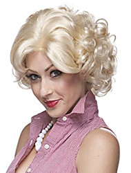 cheap -Synthetic Wig Curly Curly Wig Blonde Short Blonde Synthetic Hair Women's Blonde