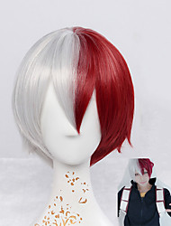 cheap -Synthetic Wig Straight Natural Wave Natural Wave Straight Wig Short Red Synthetic Hair Cosplay Red