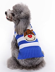cheap -Dog Coat Sweater Puppy Clothes Reindeer Fashion Holiday Casual / Daily Wedding Christmas Outdoor Winter Dog Clothes Puppy Clothes Dog Outfits Black Red Blue Costume for Girl and Boy Dog Acrylic Fibers