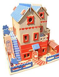 cheap -3D Puzzle Jigsaw Puzzle Wooden Model DIY Simulation Wooden Natural Wood Unisex Toy Gift