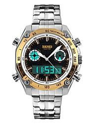 cheap -SKMEI Men's Wrist Watch Analog - Digital Quartz Fashion Water Resistant / Waterproof Alarm Calendar / date / day / Quilted PU Leather / Japanese
