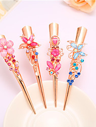 cheap -Complex Classic Hairpin Hair Ornaments Palace Hairpin National Wind Hair Ornaments Diamond Tassel Step Shake Crystal Jewelry 4PCS