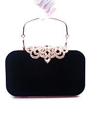 cheap -Women's Rhinestone Velvet Evening Bag Wedding Bags Wine / Black / Blue / Fall & Winter