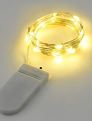 cheap -2W String Lights 2M 20LEDs Warm White White RGB Red Yellow Blue Green Battery Powered