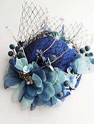 cheap -Tulle / Chiffon / Lace Fascinators / Hats / Hair Clip with 1 Wedding / Special Occasion / Birthday Headpiece
