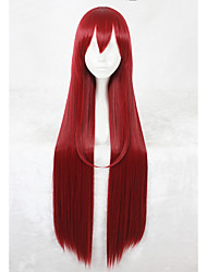 cheap -Synthetic Wig Straight Straight Wig Long Red Synthetic Hair Faux Locs Wig Red