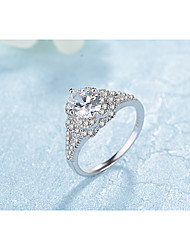 cheap -Band Ring AAA Cubic Zirconia Silver Platinum Plated Elegant Fashion 6 7 8 / Women's / Wedding / Daily / Engagement