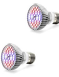 cheap -2pcs 7 W Growing Light Bulb 800-1200 lm E14 GU10 E27 40 LED Beads SMD 5730 Warm White White Red 85-265 V / 2 pcs / RoHS / FCC