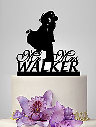cheap -Cake Topper Classic Theme / Wedding Classic Couple Plastic Wedding / Anniversary with 1 pcs Poly Bag