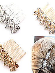 cheap -Crystal / Alloy Hair Combs / Headwear / Hair Stick with Floral 1pc Wedding / Special Occasion / Anniversary Headpiece