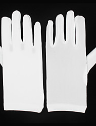 cheap -Elastic Satin Wrist Length Glove Bridal Gloves / Party / Evening Gloves With Ruffles